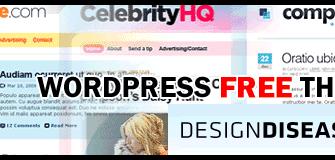 [Free WordPress Themes] ธีมเวิร์ดเพรสแนว 2.0 งาม ๆ จาก DesignDisease