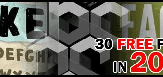 [Free Fonts] รวม 30 ฟ้อนต์ฟรีในปี 2009 สำหรับ Web Design