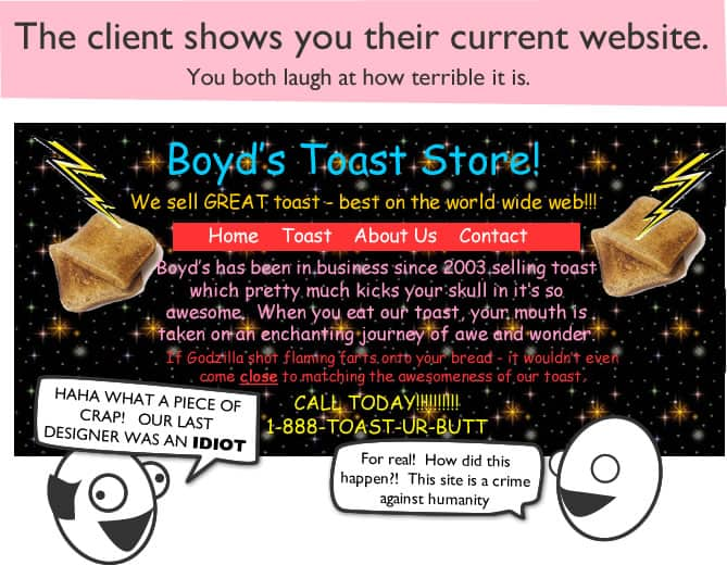 web design comic page 3