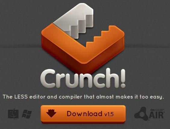 แปลงไฟล์ LESS CSS ด้วย Crunch App