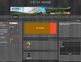 แนะนำ Tool ออนไลน์ฟรี ช่วยเขียนโค้ด CSS3 ง่าย ๆ ด้วย CSS3Maker !!
