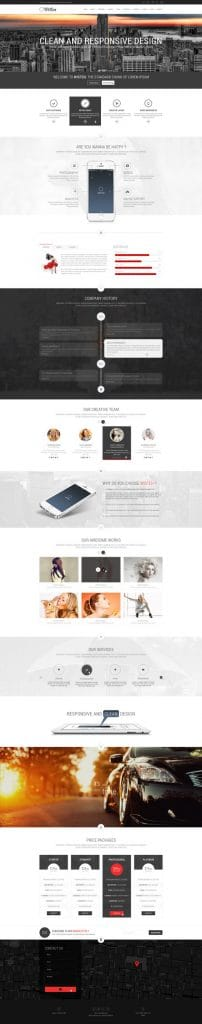 One Page Web Design Sample