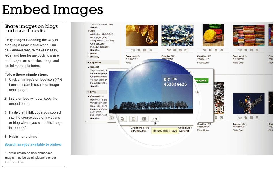 Getty Images Embed Image Free