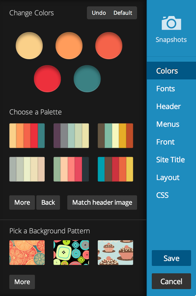 WordPress Custom Design Panel ทำ Theme WordPress
