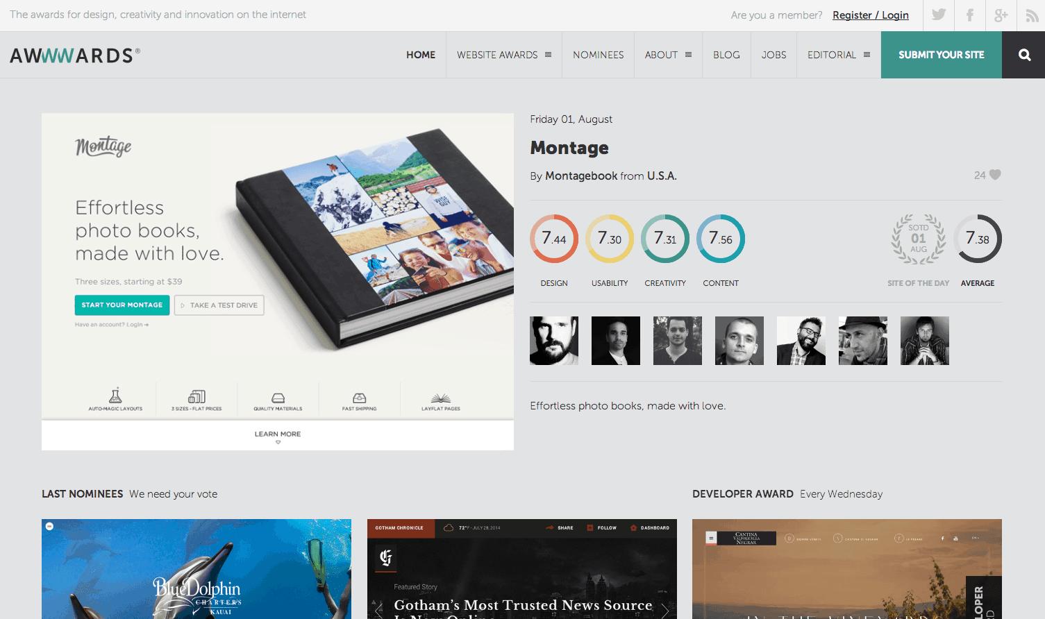 5 inspiration web designer for Blueprint website design
