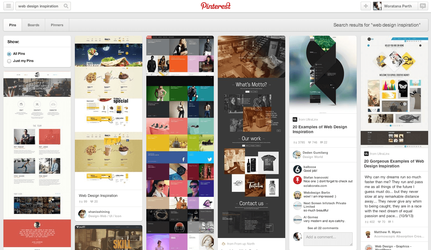 Pinterest Design Inspiration