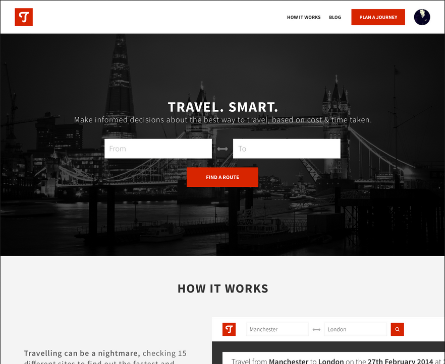 Travelling Website Color Red
