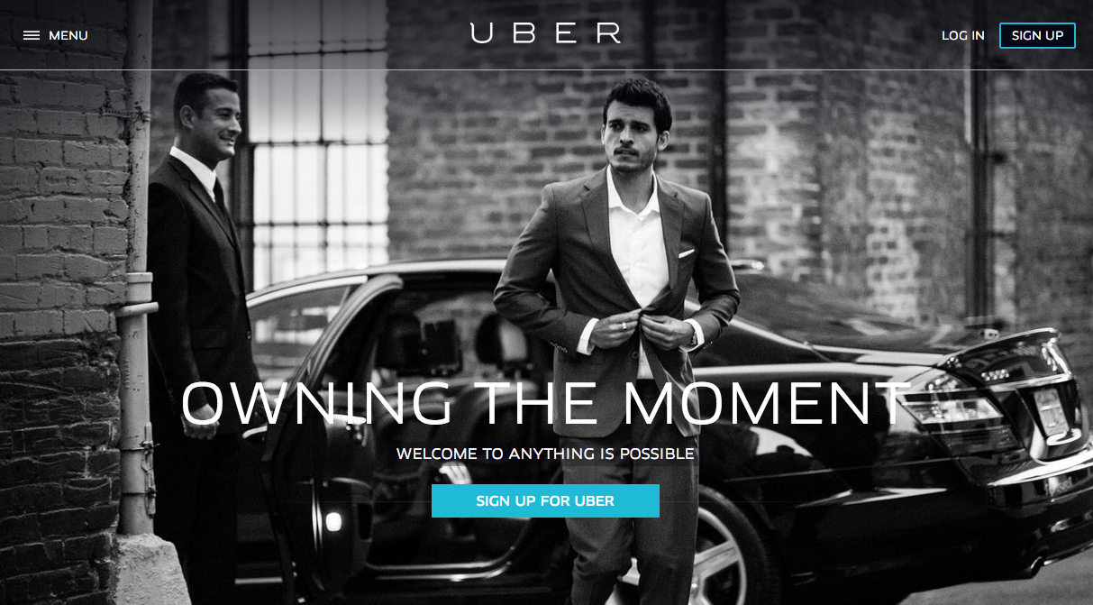 Uber Black White Website