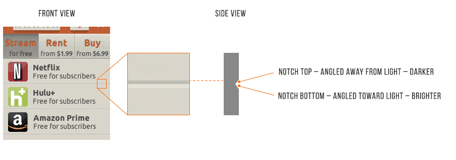 UI Design Notch Divider Light