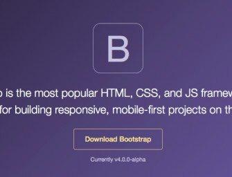 Bootstrap 4 ดาวน์โหลดได้แล้ว !! มีอะไรใหม่มาดูกัน