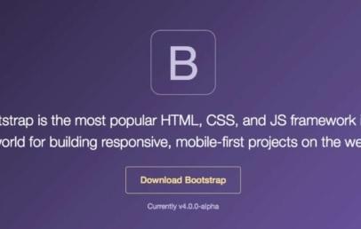 bootstrap 4 alpha