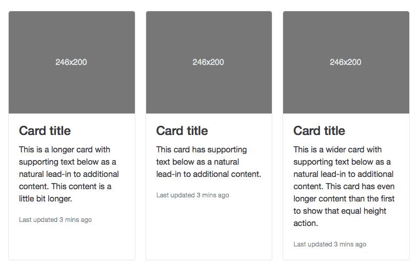 หน้าตา Card ของ Bootstrap 4