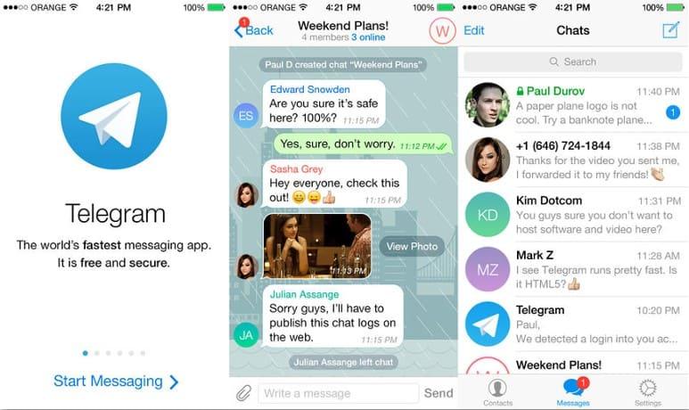 User Interface สวย ๆ คลีน ๆ ของแอพแชท Telegram - freelance tools