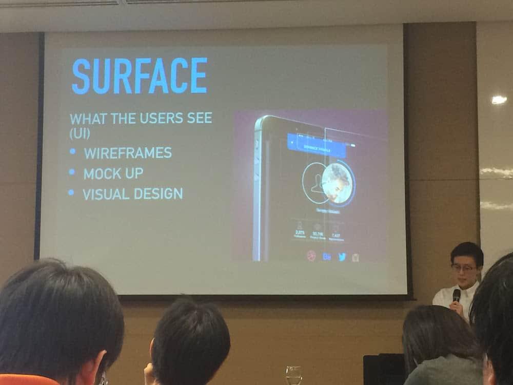 ส่วนของ Surface ก็คือ UI Design นั่นเอง