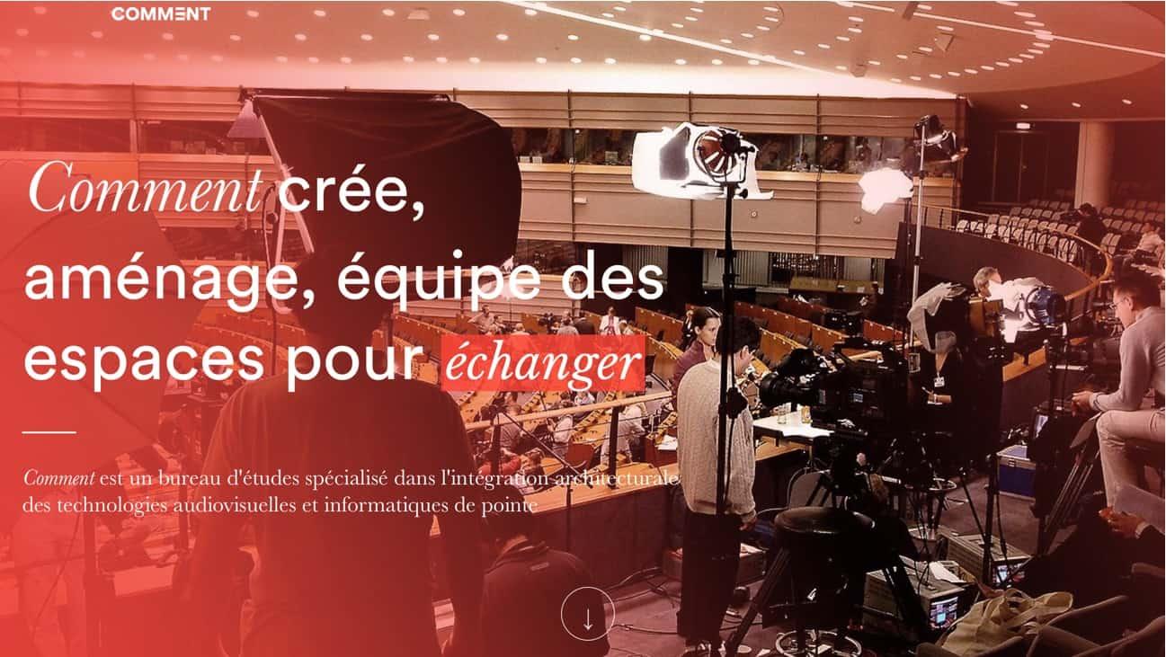 ตัวอย่างการใช้ Typography หลากหลาย บนเว็บไซต์ Comment.fr