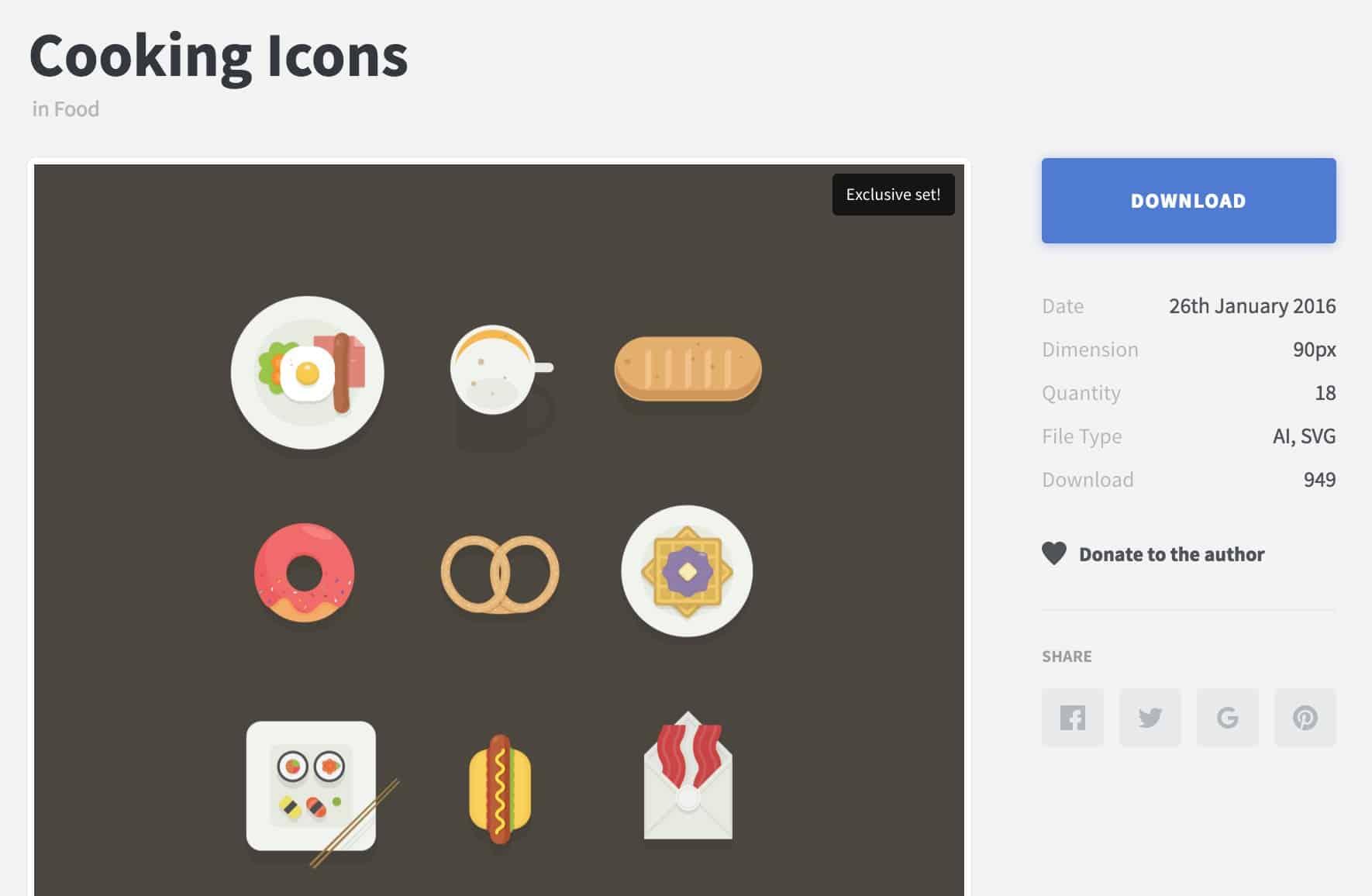 เซ็ตไอคอนแจกฟรีโดย คุณ Buatoom : เว็บไซต์ IconStore