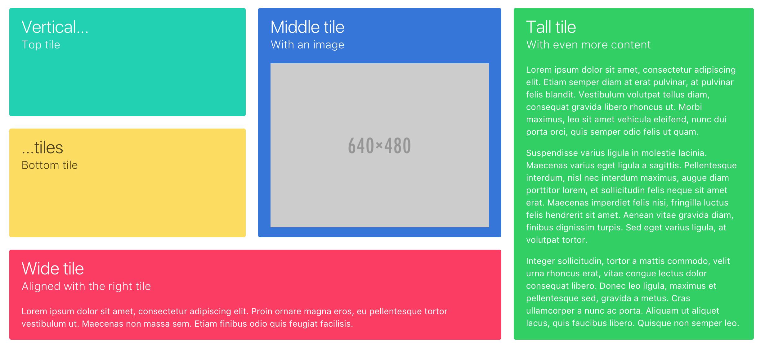 ตัวอย่าง Metro UI เขียนด้วย Bulma จะเห็นว่าความสูงเท่ากันเป๊ะอัตโนมัติเลยครับ