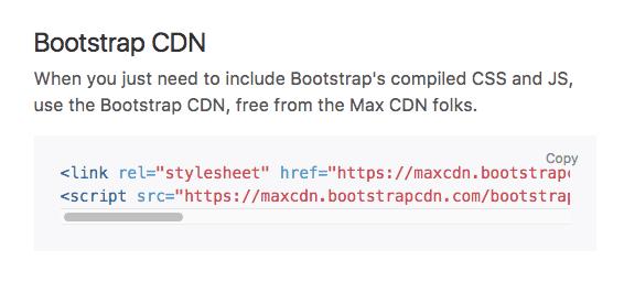 Bootstrap CDN