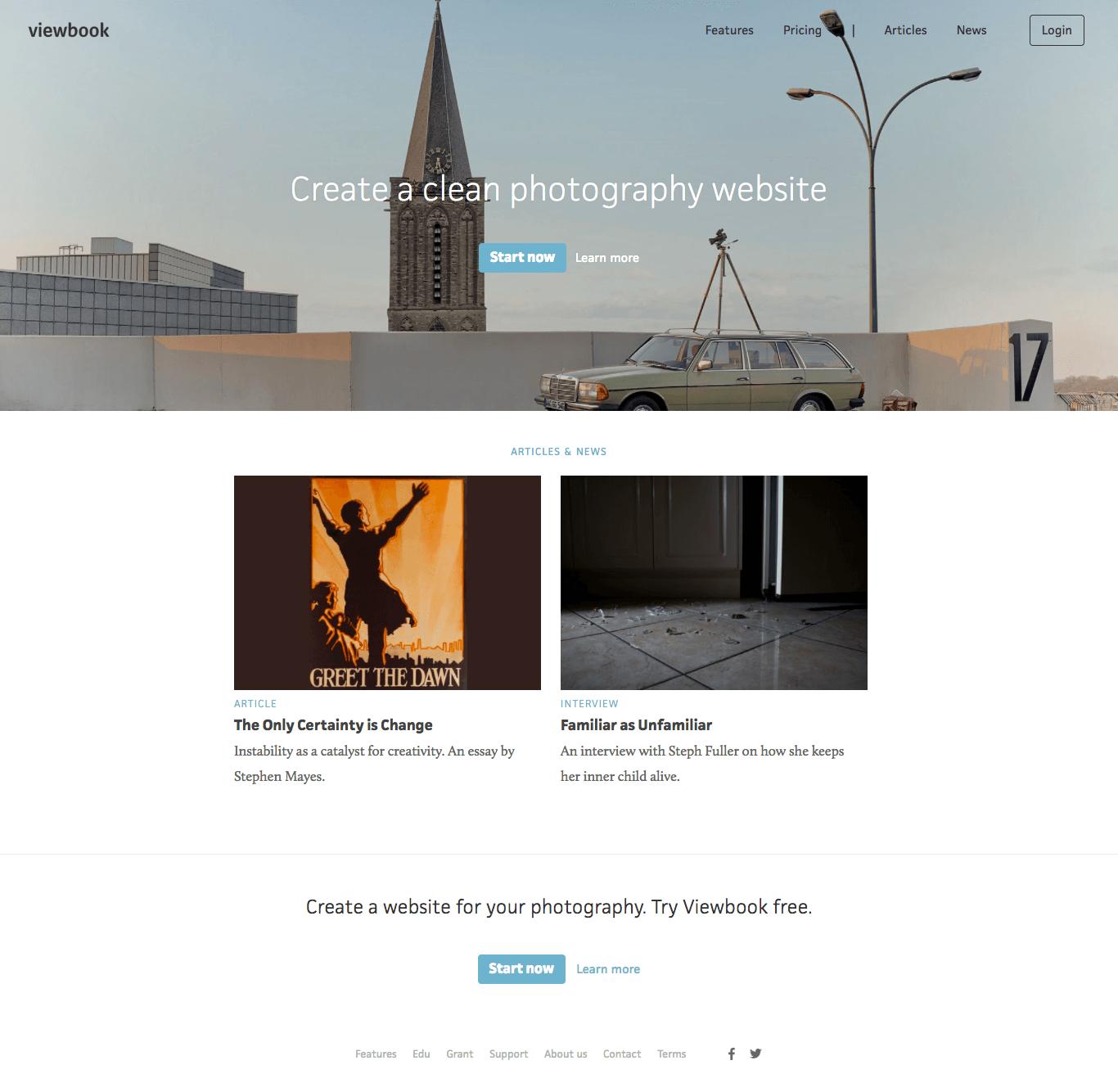ViewBook เด่นเรื่องการสร้าง Portfolio ออนไลน์ที่เรียบๆ และ คลีนๆ สะอาดตา