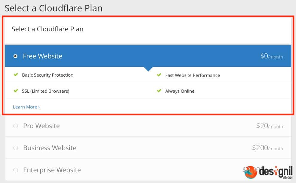 Free Plan HTTPS ของ Cloudflare