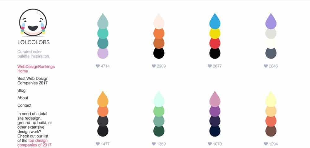 แจกฟรี คู่สี ใช้ในเว็บไซต์