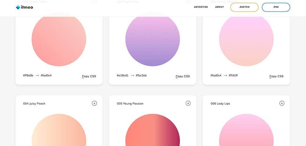 ฟรี Gradient ไล่สีสวย ๆ ด้วยเว็บไซต์