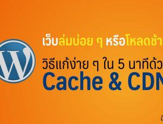[ทิป WordPress] เว็บใหญ่แล้วไปไหนดี: แก้ปัญหาเว็บล่มบ่อย ๆ หรือโหลดช้าแบบฟรี ๆ ด้วย Cache & CDN