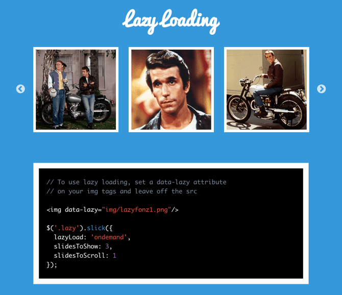 slick lazyload slider javascript