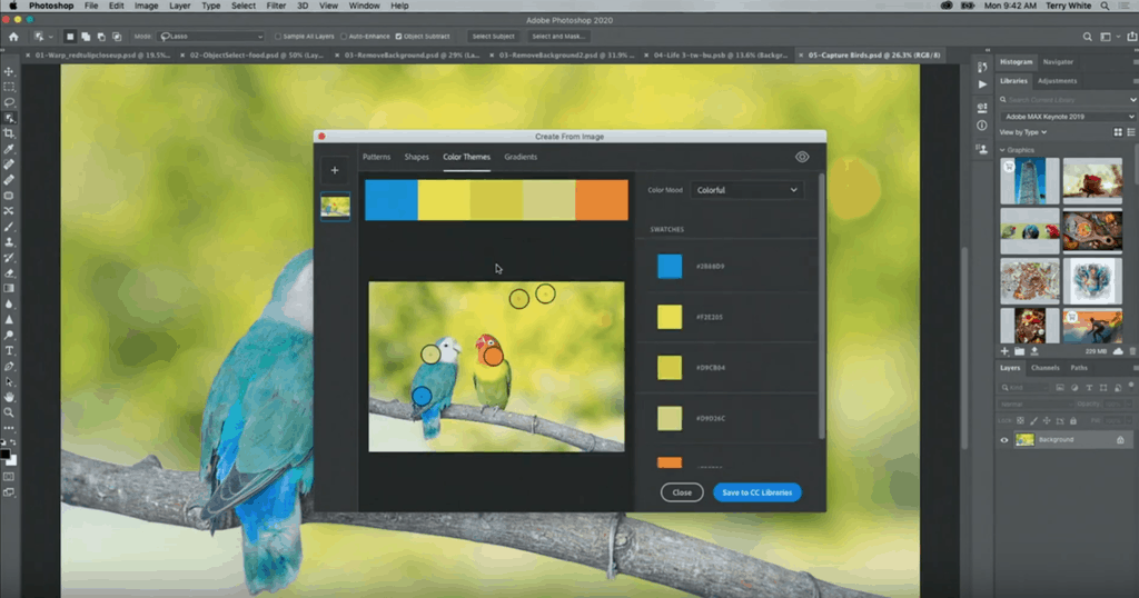 สร้าง Color themes จากภาพถ่ายแล้วเซฟลง cloud ของเราได้ทันที เก็บไว้ใช้เป็นคู่สีของงานต่อไป
