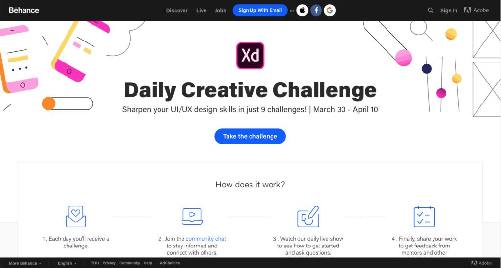 อยากเป็น UI/UX ต้องฝึกฝนกับ Adobe XD Challenge