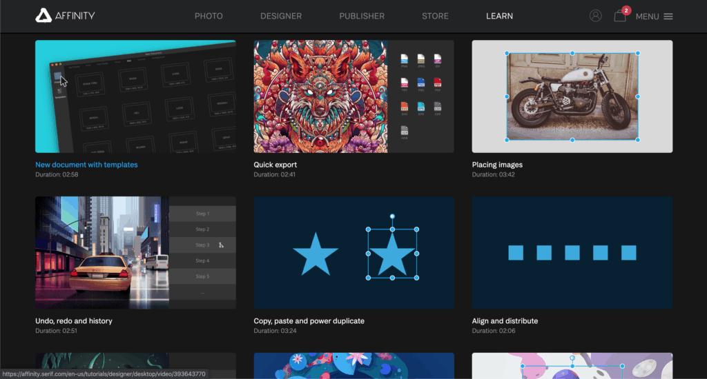 tutorial affinity designer