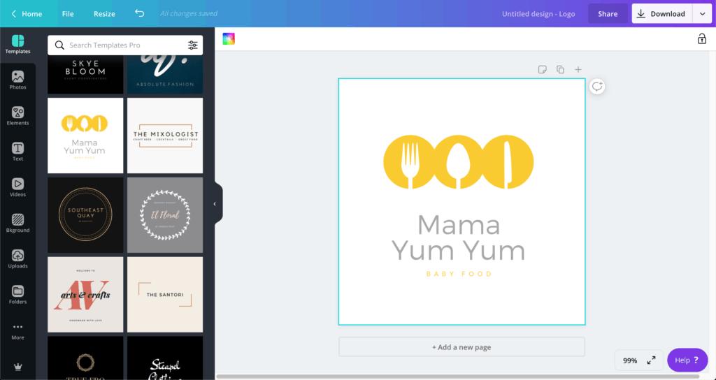 Canva logo design ออกแบบโลโก้กับ Canva มีเทมเพลตให้เลือกเป็นร้อย