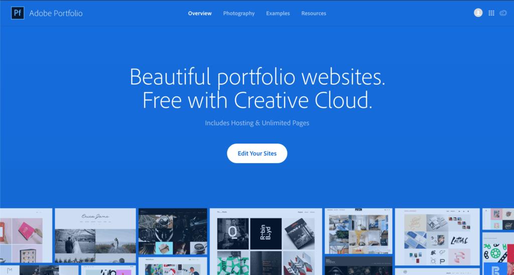 Adobe My Portfolio Free