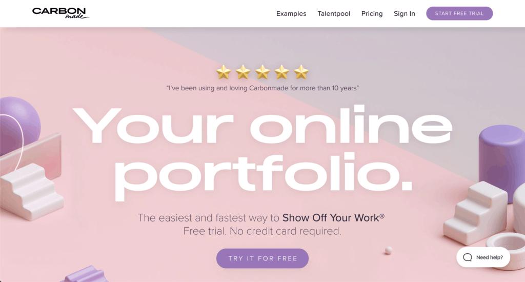 ทำ portfolio ฟรี กับ Carbonmade