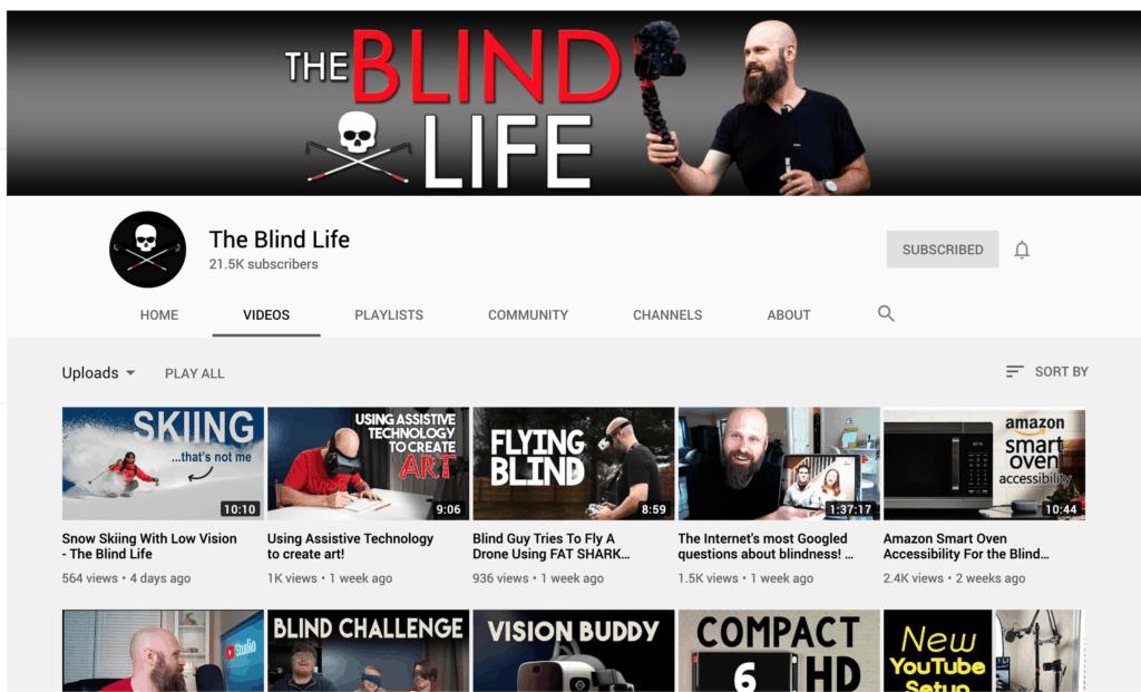 ช่อง youtube สำหรับศึกษา Accessibility - the blind life
