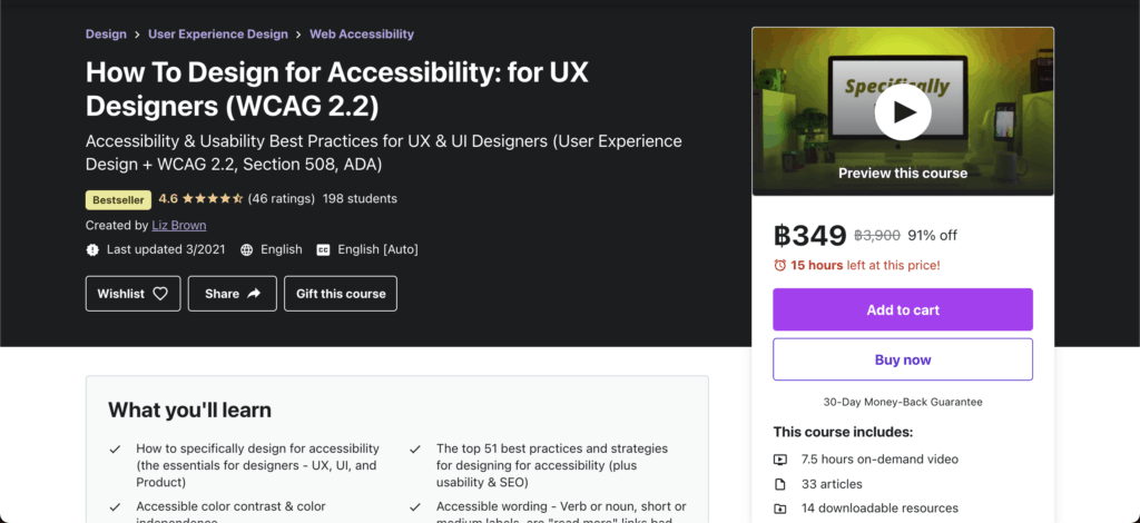 Accessibility ux online course