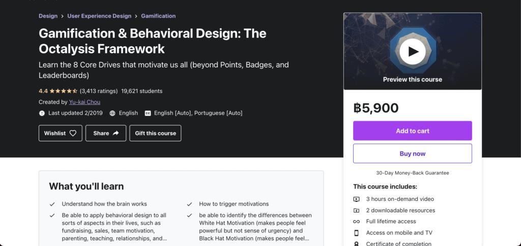 Gamification & Behavioral Design: The Octalysis Framework