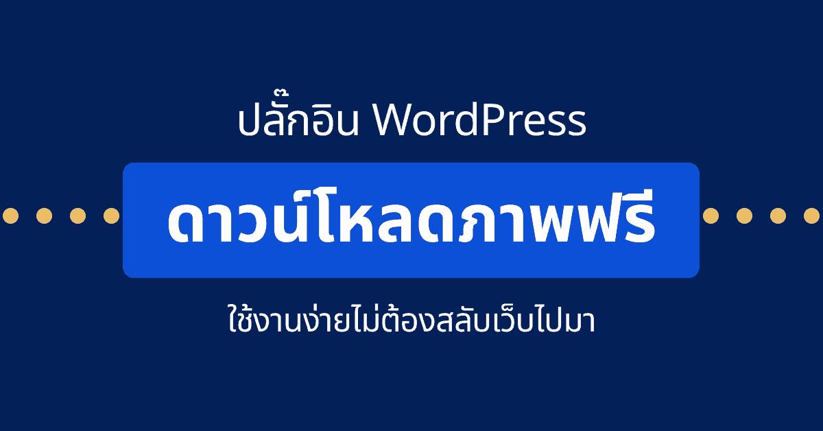 ภาพฟรี wordpress plugin