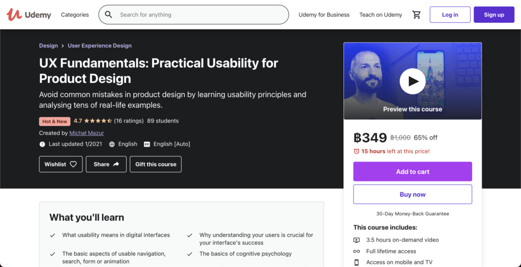 UX Fundamentals: Practical Usability for Product Design