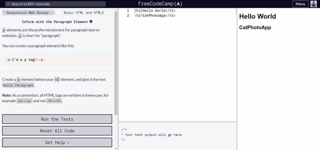 Freecodecamp web development