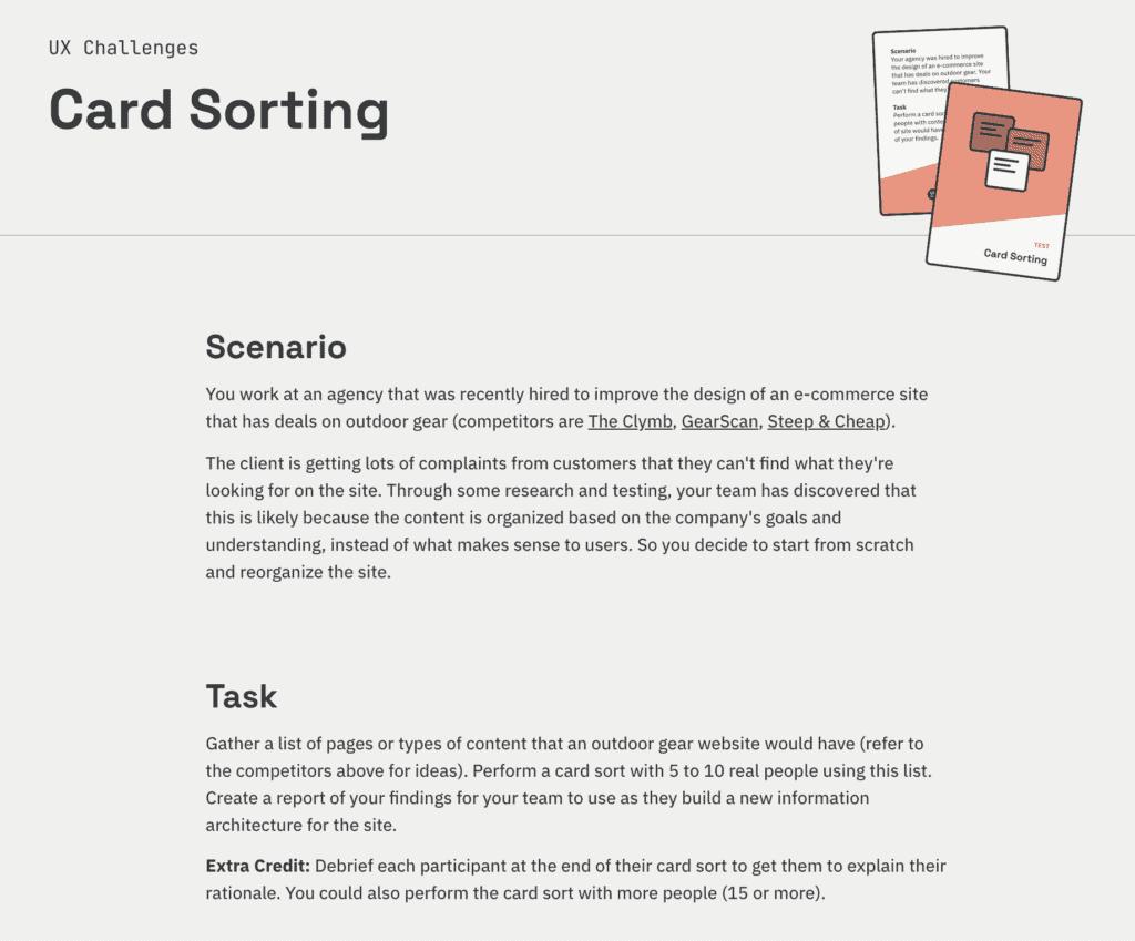 card sorting ฝึก UI UX
