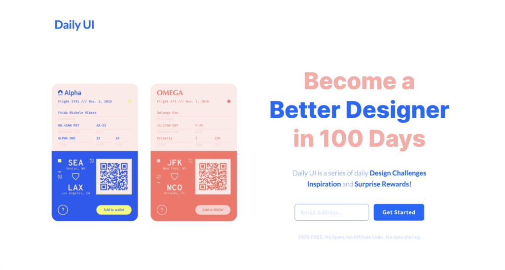 daily ui - become a better designer in 100 days ฝึก UI UX