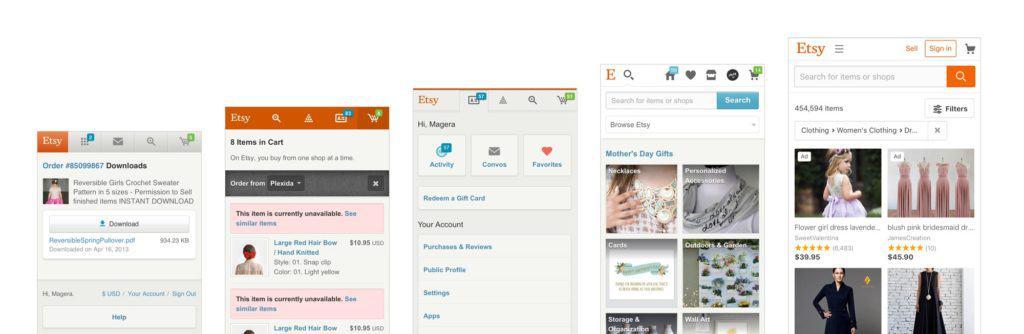 ออกแบบเว็บไซต์ etsy design