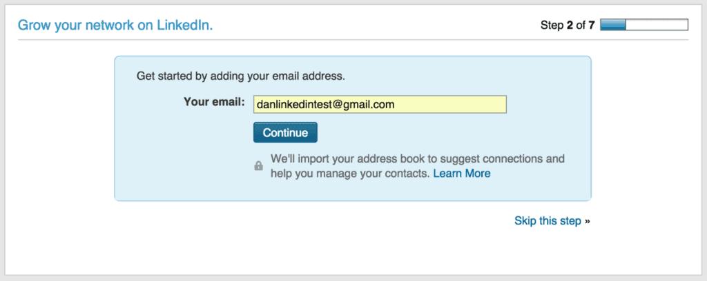 ตัวอย่าง Linkedin dark patterns