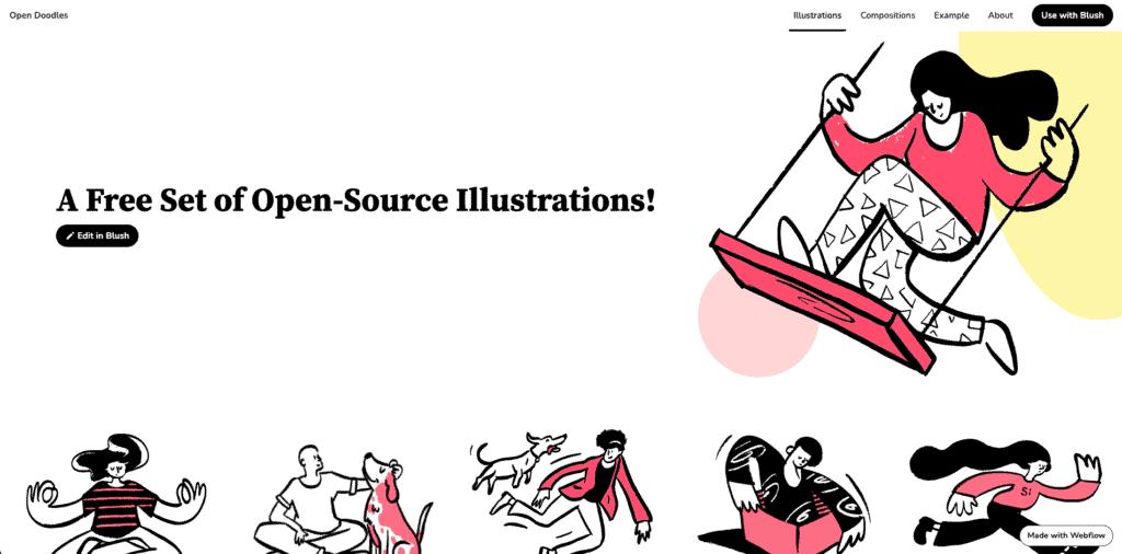 รูปการ์ตูน จาก open doodles