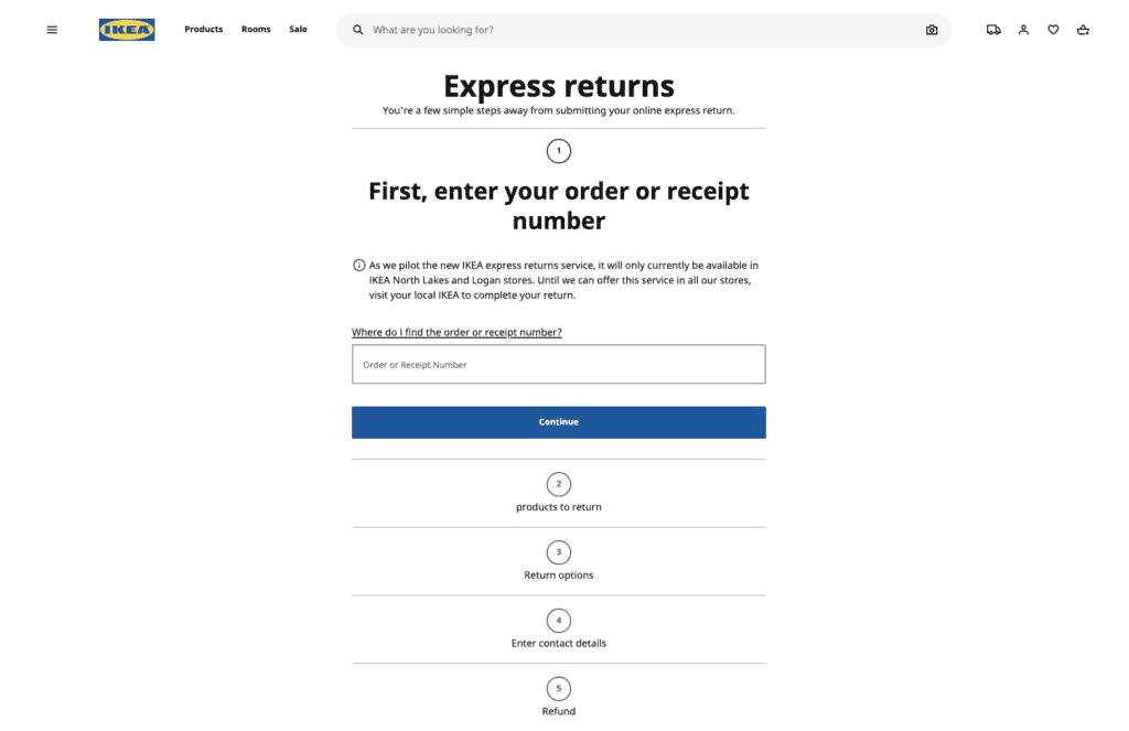Express returns - Ikea