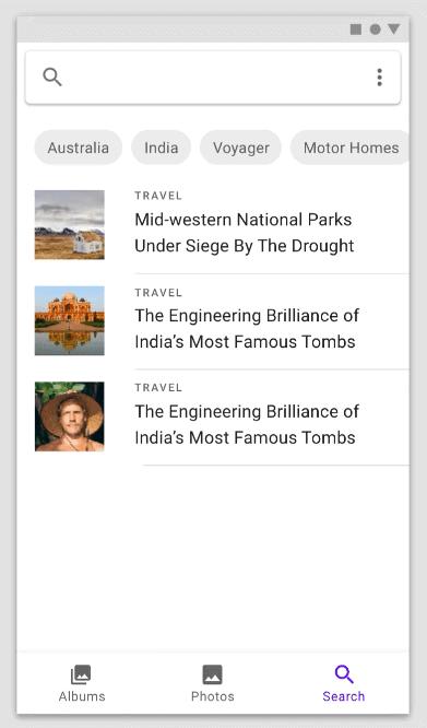 ตัวอย่างการใช้งานฟอนต์ roboto example 2 จาก Google material