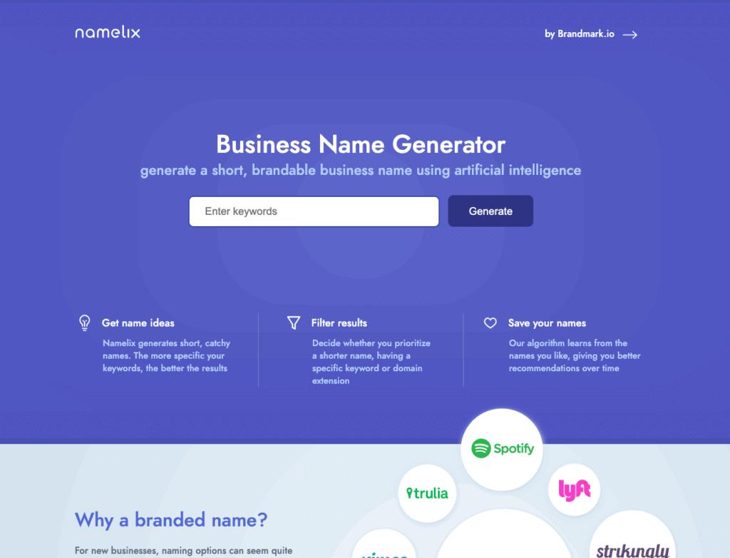 02 namelix ตั้งชื่อบริษัท