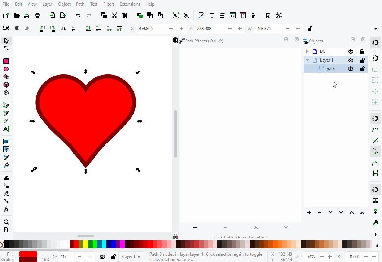 Inkscape illustrator alternative tool โปรแกรมออกแบบฟรี