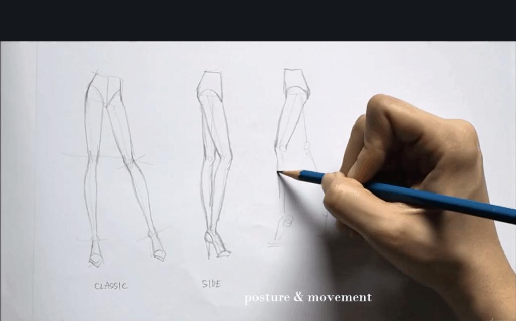 เรียนแฟชั่นดีไซน์ออนไลน์ fashion design drawing